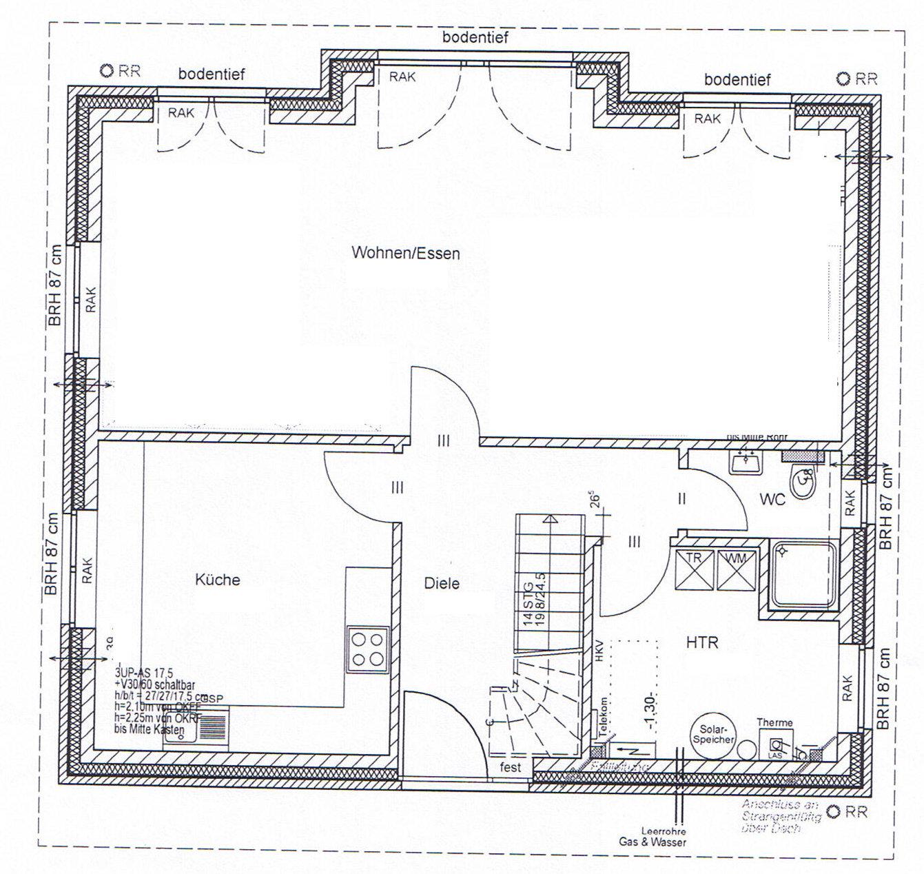 warten auf den bauantrag grundrisse unseres hauses. Black Bedroom Furniture Sets. Home Design Ideas
