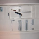 Zählerkasten mit Sicherungen und FI-Schalter