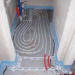 Fußbodenheizung Gäste-WC von außen